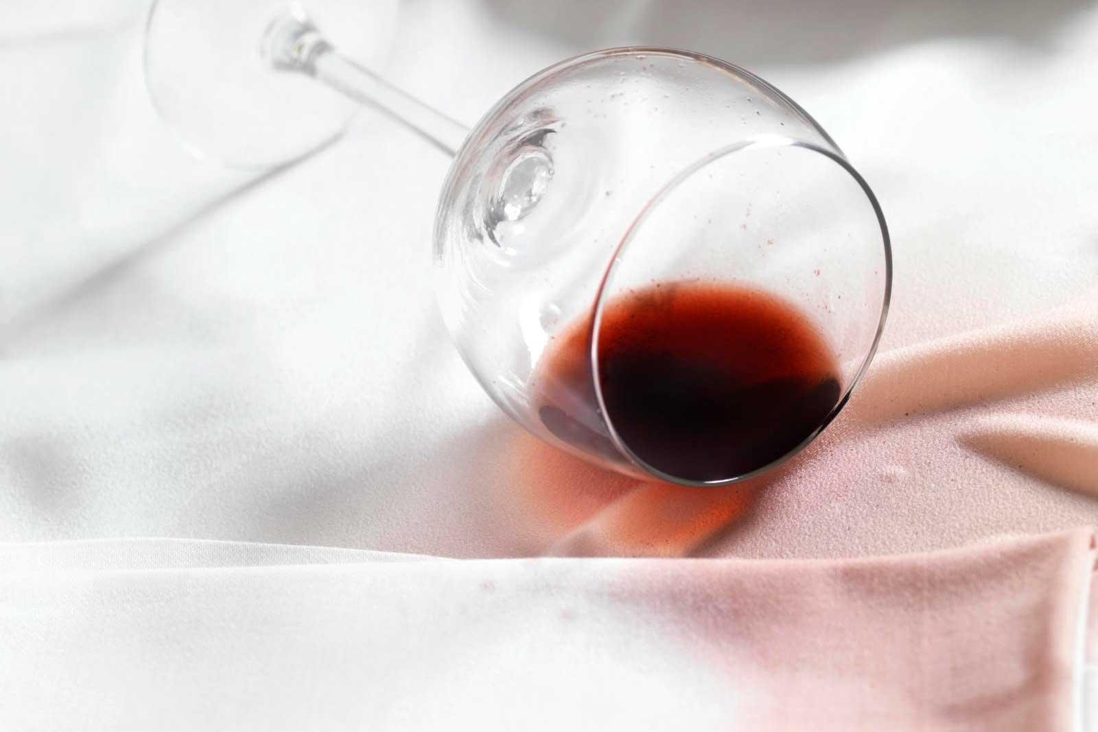 Quitar mancha de vino